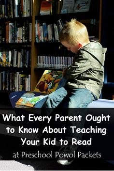 What Everybody Ought to Know About Teaching Your Kid to Read