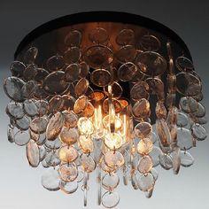 Country Iron and Handmade Glass Round Crystal Pendant  Lighting