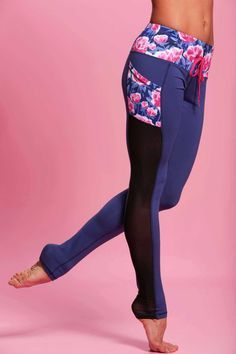 Lengthen your legs in these sports-chic pants. The thigh high mesh paneling shows that you're a woman who appreciates fine fashion, while the pockets and drawstring tells a tale of functional fitness.