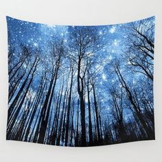 Tree Wall tapestriy Space wall tapestry Galaxy wall art by NikaLim