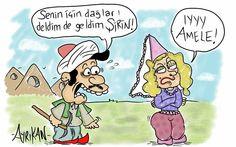 Ferhat İle Şirin Karikatürü Ayrıkan Karikatürleri