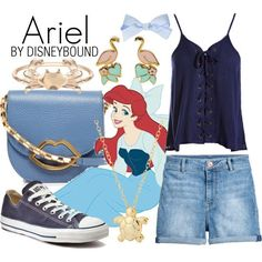 A fashion look from February 2017 featuring Sans Souci tops, H&M shorts and Converse sneakers. Browse and shop related looks. Princess Inspired Outfits, Disney Princess Outfits, Cute Disney Outfits, Disney Themed Outfits, Disney Inspired Fashion, Disney Bound Outfits, Cute Outfits, Disney Dresses, Disneyland Outfits