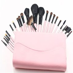 Pure Vie 23 Pcs Professional Cosmetic Makeup Brushes Set with Travel Pouch  Essential Make Up Tools Kit for Professional as well as Personal Use >>> To view further for this item, visit the image link.