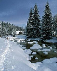 """White Labe"" in Krkonoše mountains (East Bohemia), Czechia"