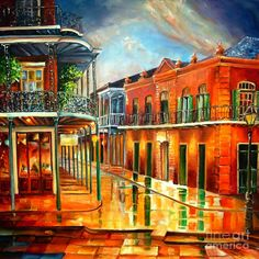 Corner Of Jackson Square Painting are so beautiful and colorful