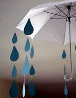 cut raindrops out of cardstock for showers....now I just need to find someone o throw a baby shower for haha