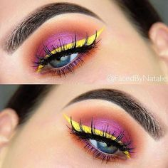"Thursday afternoons stunning #MakeupInspiration was done by @facedbynatalie using our ""Yellow Submarine"" Gel liner!! Use the code ""beauty"" for 30% off OFRACosmetics.com https://www.ofracosmetics.com/collections/eyes/products/fixline-eyeliner-gel?variant=9024574211"
