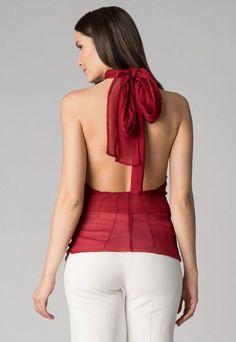 Fashion Days - ИЗБРАНИ ПРОДУКТИ ЗА ВАС - Burgundy Red Halter Top