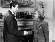 """Jimmy Stewart and Jean Arthur in a publicity photo for """"Mr. Smith Goes to Washington"""""""
