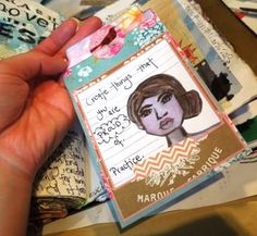 Art Journal Page & Tag by Jennibellie, blogged http://jennibelliestudio.blogspot.co.uk/2013/03/projects-with-my-collage-sheets.html