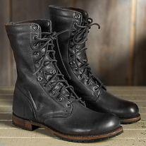 c1651365ad6 Handmade Men's Black Military Boot, Combat Boots, Mens Winter Boot ...
