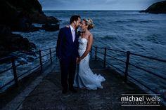 Ilfracombe Wedding Photographer Michael Wells Photography. Sandy Cove Wedding #sandycovehotel #sandycove #helebeach #wedding #devonwedding #devonwedding photography #northdevonphotographer #beachwedding #brideandgroom #magmod #maggrid #moodywedding #stormyseas #XT1 #fujilove