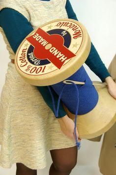 Thread Reel Stool wood stool by MonoculoShop on Etsy