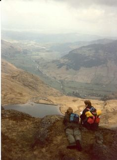 On top of Pavey Ark in the Langdale Valley 1980s bdm