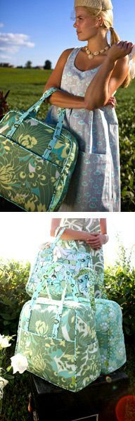 """I was just thinking how I could make my own """"Vera Bradley"""" type bags when I came across this Amy Butler Weekender Bag Pattern in a pin. Now there can be no excuses why I can't make my own!"""
