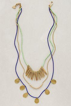 @beepbo   Masambu Layered Necklace #anthropologie
