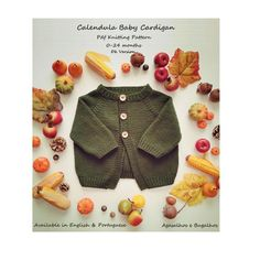 Calendula Baby Cardigan, Alentejo Romper and Dress PDF Knitting Pattern Set Months Baby Knitting Patterns, Baby Cardigan Knitting Pattern, Knit Vest, Knitting For Kids, Baby Patterns, Knitting Projects, Beginner Knitting, Easy Knitting, Clothes Patterns