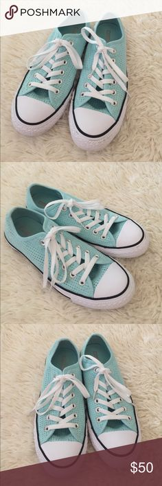 Converse Tiffany Blue Converse in women size 8.5 Converse Shoes Sneakers