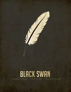 Minimal Movie Posters — Black Swan by Denise Villanueva Minimal Movie Posters, Minimal Poster, Film Posters, Epic Movie, Love Movie, Black Swan 2010, Neon Noir, Alternative Movie Posters, About Time Movie