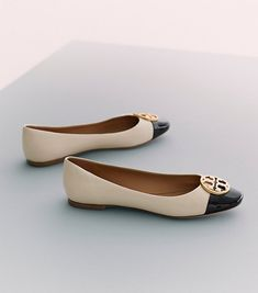 Tory Burch Chelsea Cap-toe Ballet Flat : Women's Best Sellers
