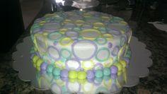 Simple cake, circles, no fondant