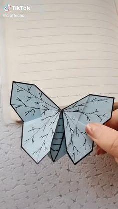 Cool Paper Crafts, Paper Crafts Origami, Creative Crafts, Diy Paper, Paper Art, Instruções Origami, Origami Videos, Origami Bookmark, Diy Crafts Hacks