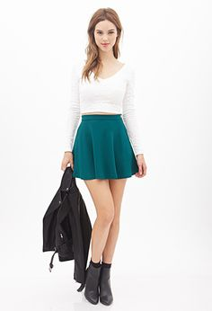 Crepe Skater Skirt   FOREVER 21 - 2000102784 $15
