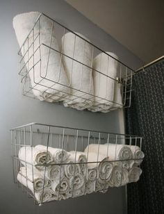 Bathroom Towel Storage bathroom towel storage | rustic bathrooms | pinterest | bathroom