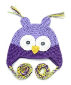 Take a look at this Purple Owl Crochet Hat - Infant & Toddler by Galipatte on #zulily today!