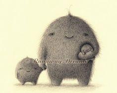 Monster Family Art Print