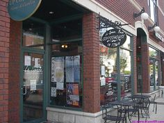 and my favorite place in the suburbs is...La Spiaza Cafe: Food Coffee & Tea  114 N Main St  Wheaton, IL 60187  (630) 221-8772  It's like an old City coffee house from the 90s, before Star#ux ran them all out of the city by serving burnt coffee really, really fast, and closing at 6pm. The friendly owner at La Spiaza, Bob, is a Red Sox fan, but I like him anyway. Great coffee, comfortable, shabby chic upholstery, plenty of tables and great Wifi. They even have homemade kolaczi for their…