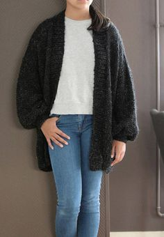 Chunky Knit Cardigan Loose Knit Oversized Cardigan Long Oversized Knit Cardigan, Long Cardigan, Women's Sweaters, Hand Knitting, Women's Fashion, Trending Outfits, Board, Beautiful, Etsy