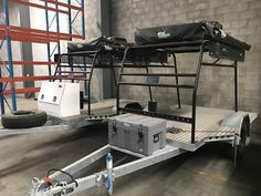 These custom made trailers are built to the highest spec with quality off road suspension, tyres and fully galvanised chassis There is a variety of trailers . Motorbike Shed, Motorbike Storage, Ducati Motorbike, Best Motorbike, Camping Trailer Diy, Kayak Trailer, Trailer Build, Motorcycle Camper Trailer, Off Road Camper Trailer