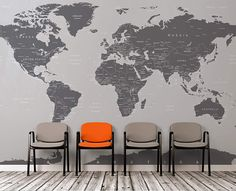 Large (Grey) World Map Wall Mural. Simple Peel and Stick. No Glue needed. Large (Grey) World Map Wall Mural. Simple Peel and Stick. No Glue needed. World Map Mural, World Map Wall Decal, World Map Wallpaper, Wall Maps, World Map Design, Wall Stickers Murals, Wall Mural, Office Wall Decals, Stained Glass Art