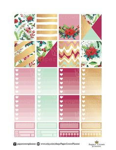 GLAM CHRISTMAS Weekly Planner Sticker Kit/Printable Planner