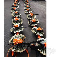 Hawaiian Leis, Creative Money Gifts, Graduation Leis, Money Lei, Class Of 2018, Flower Crown, Artificial Flowers, Ribbons, Room Ideas