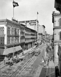 """Richmond, Virginia, circa 1905. """"Main Street from Eleventh."""" Shorpy Historical Photo Archive :: Old Virginia: 1905"""