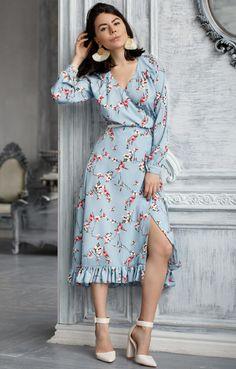 New Dress Hijab Chiffon Style 44 Ideas Fall Dresses, Casual Dresses, Diva Fashion, Fashion Looks, Modest Fashion, Fashion Dresses, Western Dresses, Vintage Style Dresses, Diy Dress