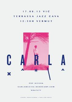 CARLA | Posters by Ingrid Picanyol, via Behance