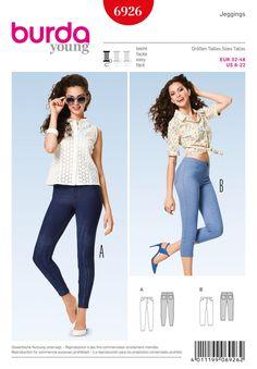 Burda B6926 Burda Style Pants Sewing Pattern