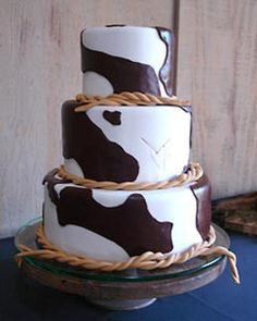 Country Western Wedding Cakes - - laughed when i saw this - so creative :)