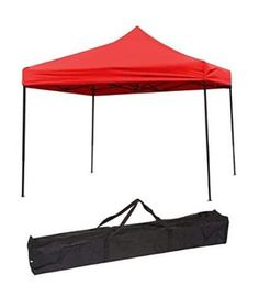 Trademark Innovations Lightweight and Portable Canopy Tent Set - 10 x 10 ft, Yellow