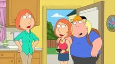 Chris's new girlfriend looks so much like Lois! Family Guy, May 2016 Family Guy Videos, Family Guy Funny Moments, Family Guy Stewie, Ice Age Movies, Kid Movies, Movie Tv, Family Guy Season 12, Lois Griffin, Peter Griffin