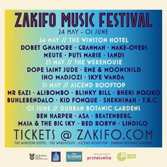 All about Zakifo Music Festival and all the best music festivals around the world, including news, lineups, locations and tickets! Festivals Around The World, Music Festivals, Moon Child, Good Music, African, Moonchild