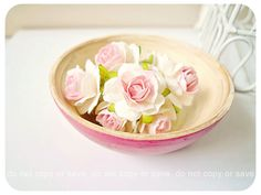 Millinery Heartshape Big flowers Buds paper flower / pack $2 - add to gift packages