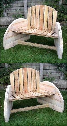 pallets wooden garden bench plan