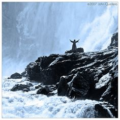 Dancing Woman of Kjosfossen Waterfall, Norway by John Quintero, via Flickr