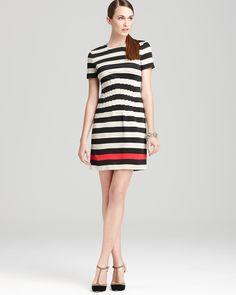 Se podría tejer!  DIANE von FURSTENBERG Dress - Yazmine Jersey Stripe | Bloomingdale's