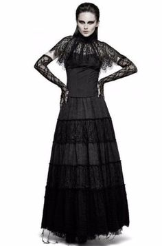 Punk-Rave-Gothic-Rock-Witchy-Steampunk-Boho-Hippie-Fetzen-Victorian-Skirt-Q309