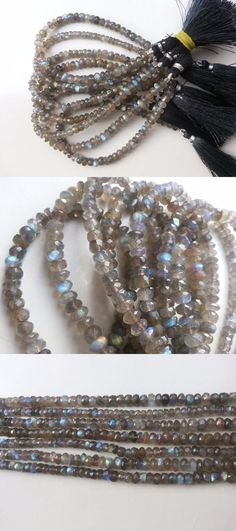 Other Loose Beads 179275: A+ 4 Strand Natural Labradorite Rondelle Faceted Gemstone Beads 7Inch 5-7Mm BUY IT NOW ONLY: $44.99